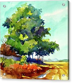 Big Green Acrylic Print by Art Scholz