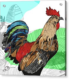 Acrylic Print featuring the digital art Big Island Rooster 2 by Lucas Boyd
