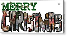 Big Letter Merry Christmas Acrylic Print