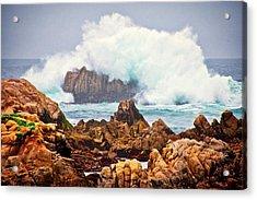 Big Splash, Asilomar State Beach, Pacific Grove, California Acrylic Print