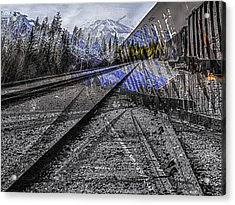 Big Steel Rail Acrylic Print