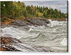 Big Waves In Autumn Acrylic Print