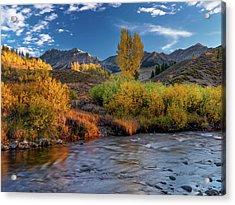 Big Wood River Color Acrylic Print by Leland D Howard