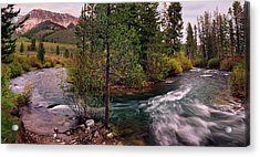 Big Wood River Curve 2 Acrylic Print by Leland D Howard