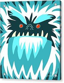 Bigfoot Face Acrylic Print