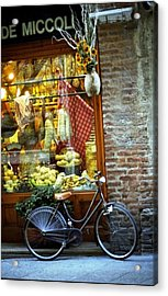 Bike In Sienna Acrylic Print