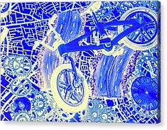 Biking Blue Acrylic Print