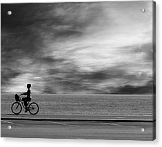 Acrylic Print featuring the photograph Biking On Pch by John Rodrigues
