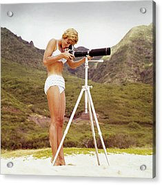 Bikini Girl And Camera Acrylic Print by Tom Kelley Archive