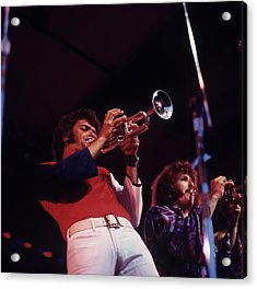 Bill Chase Performs At Newport Acrylic Print by David Redfern