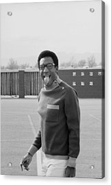 Bill Cosby Sticks His Tongue Out Acrylic Print by Michael Rougier