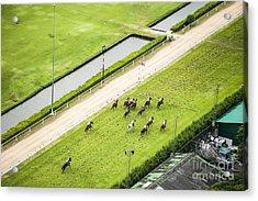 Bird Eyes View Horse Racing Acrylic Print