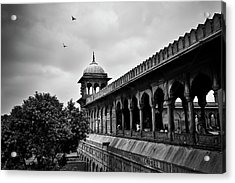 Acrylic Print featuring the photograph Birds Over The Jama Masjid by Whitney Goodey