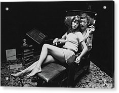 Birkin And Gainsbourg Acrylic Print