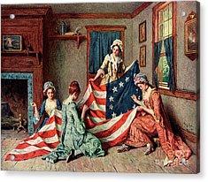 Birth Of The Flag Acrylic Print