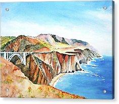 Bixby Bridge 3 Big Sur California Coast Acrylic Print