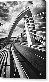 Black And White Version Of The Millennium Bridge Acrylic Print