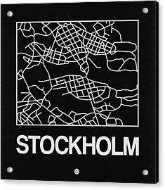 Black Map Of Stockholm Acrylic Print