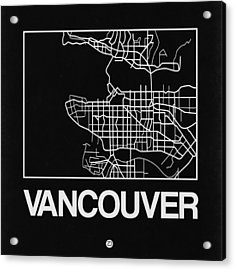 Black Map Of Vancouver Acrylic Print