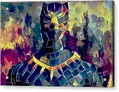 Acrylic Print featuring the mixed media Black Panther by Al Matra