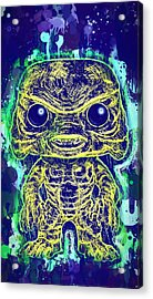 Acrylic Print featuring the mixed media Creature From The Black Lagoon Pop by Al Matra