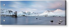 Acrylic Print featuring the photograph Blackmount Sunrise - Glencoe by Grant Glendinning