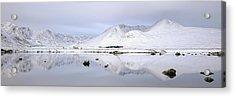 Acrylic Print featuring the photograph Blackmount Winter Sunrise - Glencoe by Grant Glendinning