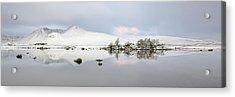 Acrylic Print featuring the photograph Blackmount Winter Sunrise - Glencoe - Scotland by Grant Glendinning