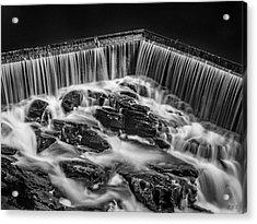 Blackstone River Xviii Bw Acrylic Print by David Gordon