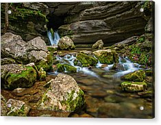 Acrylic Print featuring the photograph Blanchard Springs Headwater by Andy Crawford
