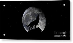 Pre Blood Red Wolf Supermoon Eclipse 873r Acrylic Print