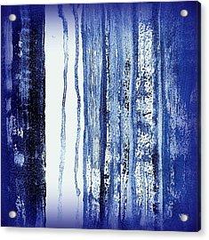 Blue And White Rainy Day Acrylic Print