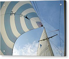Blue And White Spinnaker Acrylic Print