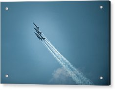 Acrylic Print featuring the photograph Blue Angel Rockets by Mark Duehmig