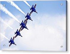 Blue Angels Acrylic Print by By Ken Ilio