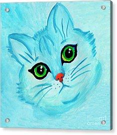 Blue Cat Acrylic Print