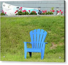 Blue Chair Acrylic Print