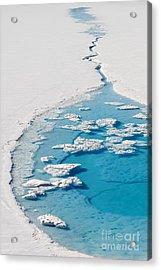 Blue Glacier Lake Acrylic Print