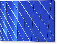 Blue Glass Modern Building Acrylic Print by Joelle Icard