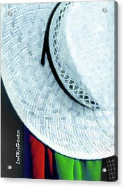 Blue Hat Painting 2 Acrylic Print
