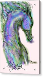 Blue Horse Painting Acrylic Print
