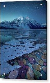 Blue Hour / Lake Mcdonald, Glacier National Park  Acrylic Print