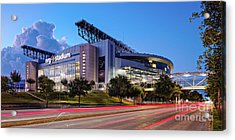 Blue Hour Photograph Of Nrg Stadium - Home Of The Houston Texans - Houston Texas Acrylic Print
