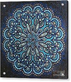 Blue Mandala Acrylic Print