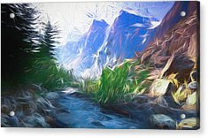 Blue Montains Acrylic Print