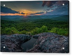 Blue Ridge Mountain Sunset Acrylic Print