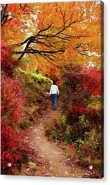 Blue Ridge Parkway Autumn Hike Ap Acrylic Print