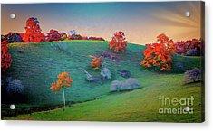 Blue Ridge Parkway Autumn Hilltop Fx Acrylic Print