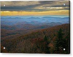 Blue Ridge Parkway - Blue Ridge Mountains - Autumn Acrylic Print