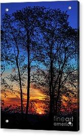 Blue Ridge Sunrise The Sun Emerges Acrylic Print by Dan Carmichael